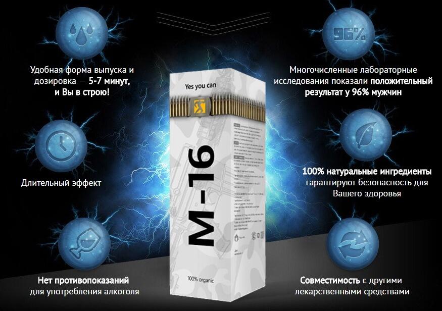Спрей М-16 для потенции мужчин купить в Казатине