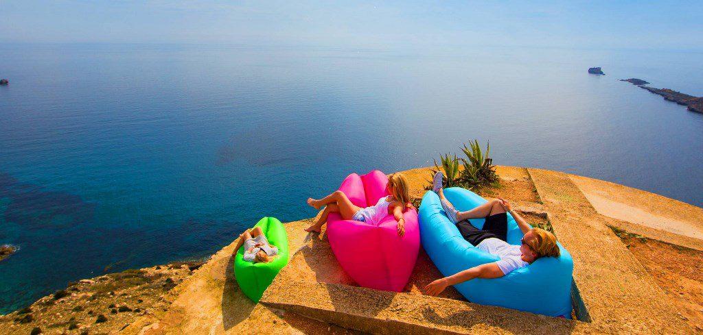 Lamzac Hangout - надувной диван, шезлонг, кресло, мешок, гамак, лежак